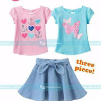 baju branded anak merk Gw, import korea,3in1 2-6thn