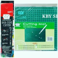 PAKET CUTTING MAT A4 + CUTTER PEN SDI