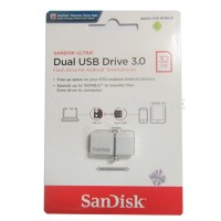 SANDISK FLASHDISK USB 3 OTG 32GB /UP TO 130 MB/S (WHITE)