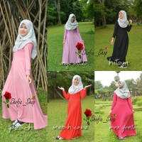 Dress Gamis Jersey Busui Polos Muslimah All Size Fit to XL
