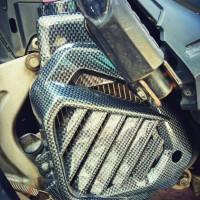Cover radiator vario 125 /150 Carbon