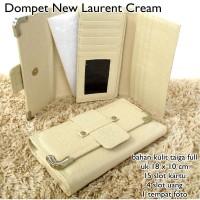 dompet wanita lacostee new laurent kulit cream Murah