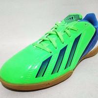 Sepatu Futsal Adidas F5 IN Junior Q22590 Green Dark Blue Original