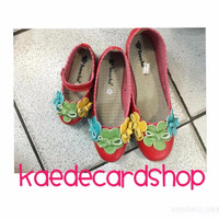 Sepatu Flat Shoes Anak Perempuan Couple Mom N Kid Flower Red (23-41) 1