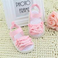 BBB Sepatu Sandal Bayi Pink Renda