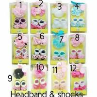 Kaos Kaki Bayi dan Headband/Bandana 2in1 Set