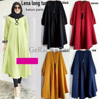 [PROMO] Lena long tunik / dress / blouse panjang / tunic harga grosir