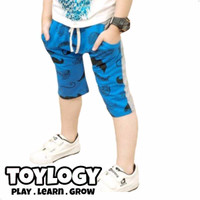 Celana Pendek Caramel Pudding ( Shorts Pants Blue Mustache )