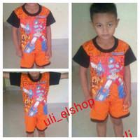 set baju anak motif transformer