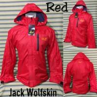 Jaket Outdoor Gunung Jack Wolfskin Merah Waterproof