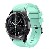 Samsung Gear S3 frontier / classic strap / tali jam / band hijau tosca