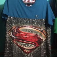 Kaos Distro Superman Biru