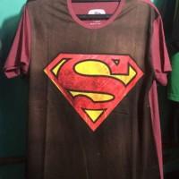 Kaos Distro Logo Superman Coklat