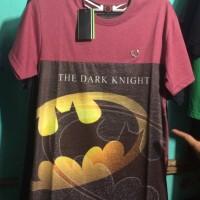 Kaos Distro Trendy Logo Batman Merah