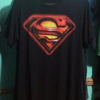 Kaos Distro Logo Superman Hitam