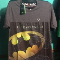 Kaos Distro Trendy Logo Batman Warna Abu