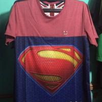 Kaos Distro Superman Merah dan Biru