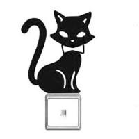 Stiker Dekorasi Saklar Lampu Motif Kucing Besar Decal Wall Sticker