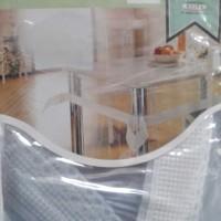 Taplak Meja Meiwa Oval transparan 60x90 inch