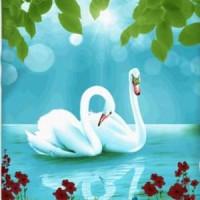 Selimut Kendra 160 x 200 motif Swan Lake