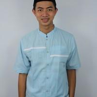 Baju Koko Pria, Busana Muslim Pria Casual, kode ADH 22 biru langit