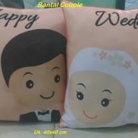 Bantal Couple (40x40 cm)/souvenir valentine/Bantal foto/Kado