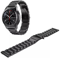 Samsung Gear S3 Frontier / Classic black stainless steel strap