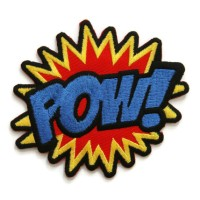 Iron Patch Poww Logo Bordir (Emblem) Ukuran L: 8cm , T: 7cm