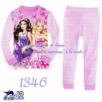 Piama Piyama Baju Tidur Anak Perempuan Cewe Barbie