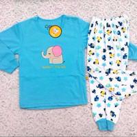 Piyama Anak / Baju Tidur Anak / Setelan Anak Unisex Elephant (3-5 thn)