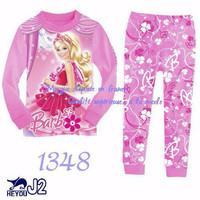 Piama Piyama Baju Tidur Anak Perempuan Cewe Princess Barbie