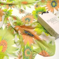 Pashmina Motif Green sun flower / Hijab /Scarf / Syal / Shawl / Selend