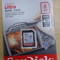 SanDisk Ultra SDHC Card 8GB Class10