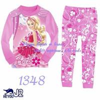 piyama anak / J2 long pajamas 1348 barbie pink/