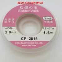 Solder Wick KEDA 2mm 1.5 meter CP 2015