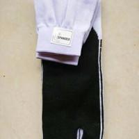 Kaos Kaki Jempol Putih Telapak Hitam