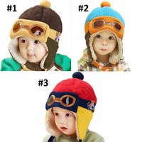Topi Kupluk Anak Bayi - Pilot / Pilot Baby Hat