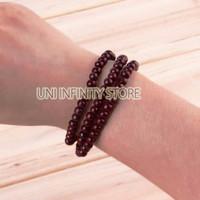 JWBR0021 Gelang Kayu Lilit Tiga Unisex Pria Wanita (Wood Bracelet)
