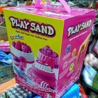 New Playsand Birthday cake Colorful kinetic play sand / mainan pasir