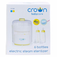 Crown 6 bottle electric steam sterilizer - steril botol
