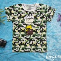 Atasan Anak Army Boy 6 - 7 Tahun Baju Lucu Murah Laris