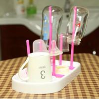 Rak botol susu bayi tirisan mini travel gelas dot