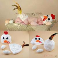 Kostum rajut foto bayi #Chicken