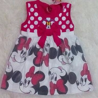 Dress bayi tutu - baju bayi murah - dress mickeymouse tutu