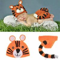 Kostum rajut foto bayi #Tiger