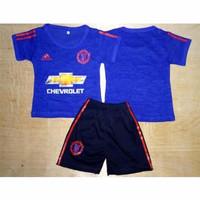MU Away - Setelan Kaos Jersey Baju Bola Bayi Anak