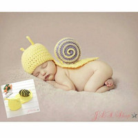 Kostum rajut foto bayi #snail