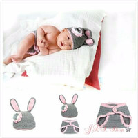 Kostum rajut photo bayi bunny