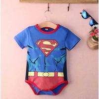 Romper Muscle Superman Jumper Bayi Baru Lahir Superhero Super Hero Siz