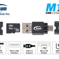 Team M141 Card Reader OTG Support MicroSD & Micro USB